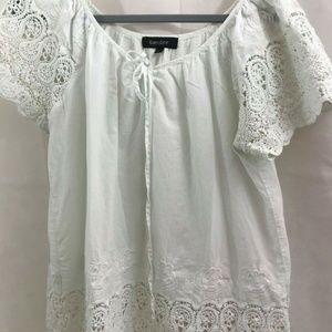 Karen Kane Lace & Embroidery Blouse Peasant Sx XL